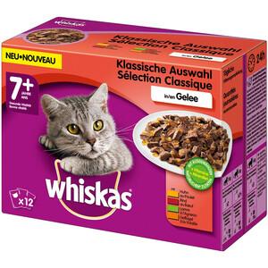 Whiskas Senior 7+ Klassische Auswahl in Gelee Multipack