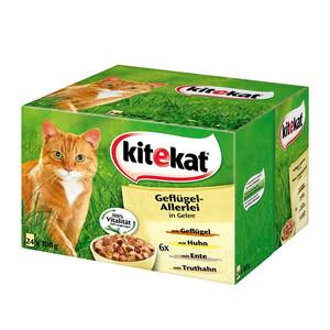Kitekat Katzenfutter Geflügelallerlei in Gelee Multipack