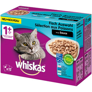 Whiskas Adult 1+ Fischauswahl in Sauce Multipack