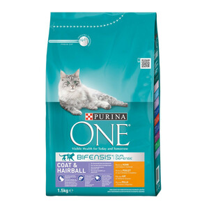 Purina ONE Bifensis Katzenfutter Coat & Hairball Huhn