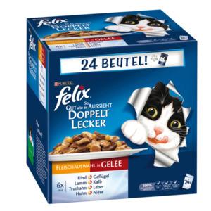 Felix So gut wie es aussieht Doppelt lecker Fleisch Mix Multipack