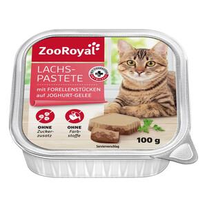 ZooRoyal Lachspastete mit Forellenstückchen auf Joghurt-Gelee