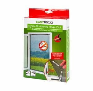 EASYmaxx Magic Klick-Moskitonetz für das Fenster, ca. 150x130cm