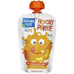 GENUSS PLUS Kids Bio Fruchtpüree Pfirsich-Mango-Banane (10 x 100.00g)