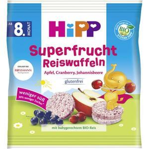 HiPP Bio Superfrucht Reiswaffeln Apfel, Cranberry, Joha 2.33 EUR/100 g (7 x 30.00g)