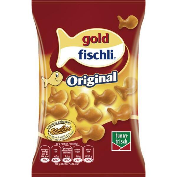 funny-frisch gold fischli Original