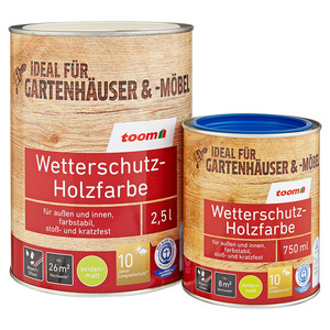 toom Wetterschutz-Holzfarbe seidenmatt schokobraun 2,5 l