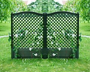 KHW Spalier 100 cm mit zwei Erdspießen 2er Set, grün
