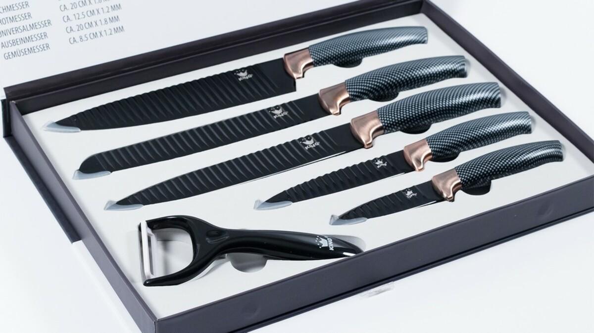 Bild 4 von KING Messerset Carbon Design 5 Messer im Set inkl. gratis Schäler