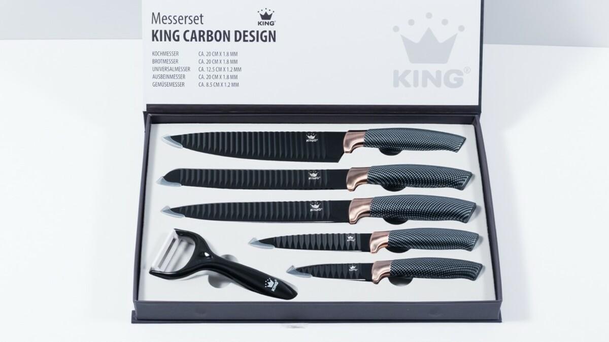 Bild 5 von KING Messerset Carbon Design 5 Messer im Set inkl. gratis Schäler