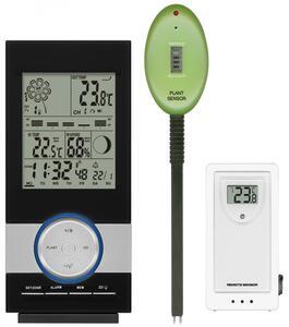 Digitale Funkwetterstation / Funkuhr mit Pflanzen-/Poolmonitor