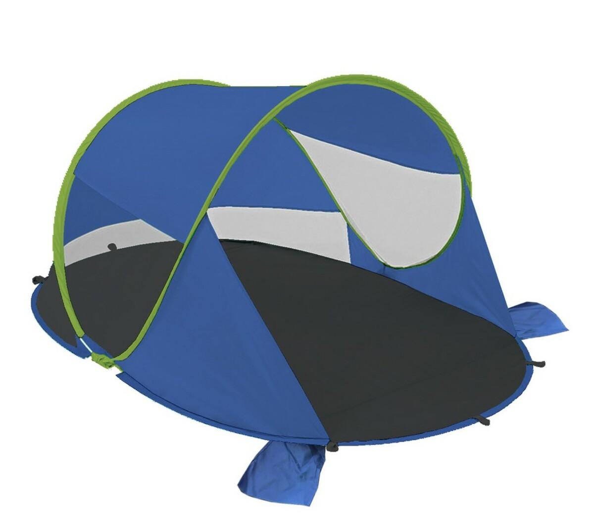 """Bild 1 von Solax-Sunshine Strandmuschel mit """"Pop-up""""-Funktion blau/grün"""
