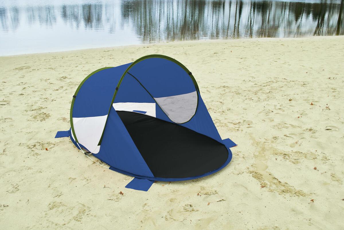"""Bild 3 von Solax-Sunshine Strandmuschel mit """"Pop-up""""-Funktion blau/grün"""