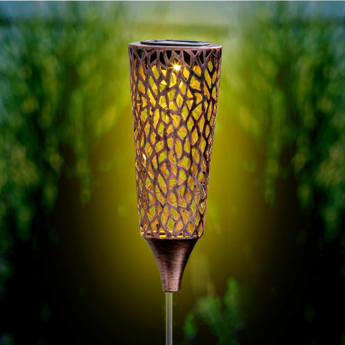 """Bild 1 von I-Glow LED Solar Metallgartensticks """"Daria"""""""