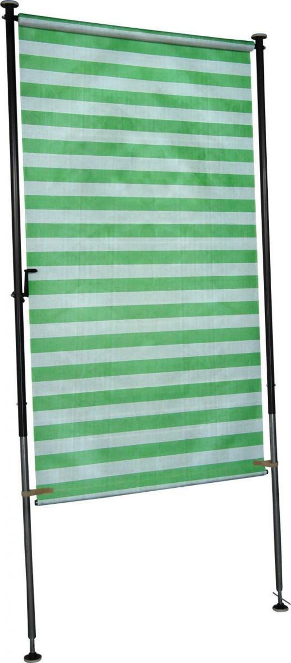 Angerer Balkonsichtschutz grün/weiß 120 cm