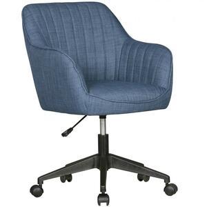 AMSTYLE Schreibtischstuhl MARA Blau Stoff