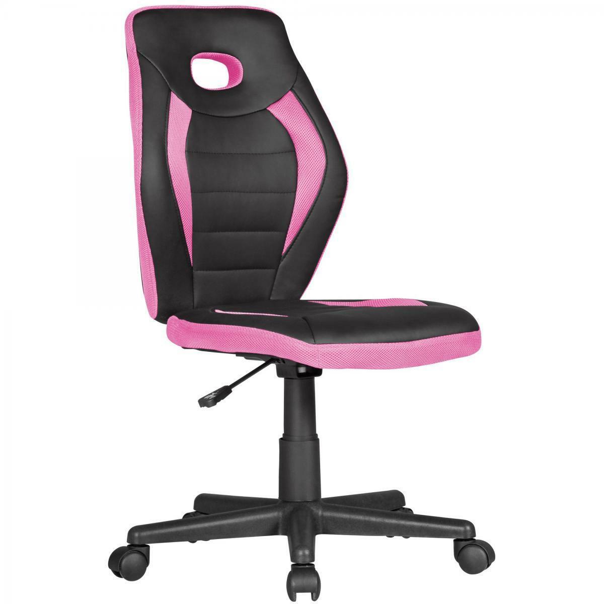 Bild 1 von AMSTYLE Kinderdrehstuhl LUAN schwarz/pink