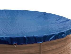 Grasekamp Abdeckplane Pool rund 400 cm Winterabdeckplane Royalblau