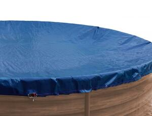 Grasekamp Abdeckplane Pool rund 550 cm Winterabdeckplane Royalblau