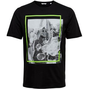 Herren T-Shirt mit neonfarbenen Effekten