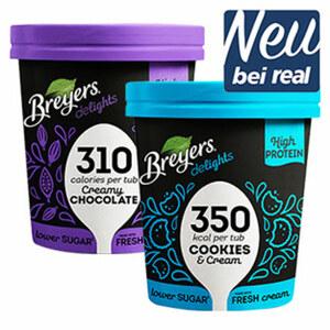 Breyers delights High Protein Eiscreme versch. Sorten, jeder 500-ml-Becher