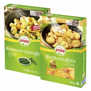 Popp Rosmarin-Kartoffeln oder Bratkartoffeln versch. Sorten, jede 500/530-g-Packung
