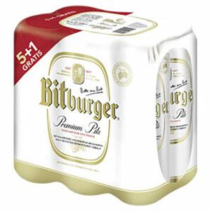 Bitburger Premium Pils 5 + 1 Dose gratis jede 6 x 0,5-Liter-Packung