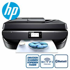 OfficeJet 5220 Drucker • 5,5 cm großer Touchscreen • randloser Drucker, Fotos in Laborqualität • einfaches Drucken von mobilen Geräten