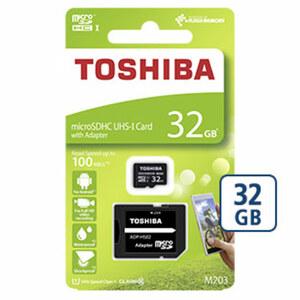 microSDHC-Karte • mit beiliegendem Adapter verwendbar als SD-Karte • Class 10/UHS-I • bis zu 100 MB/s