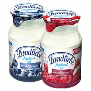 Landliebe Joghurt auf Frucht versch. Sorten, jeder 150-g-Becher