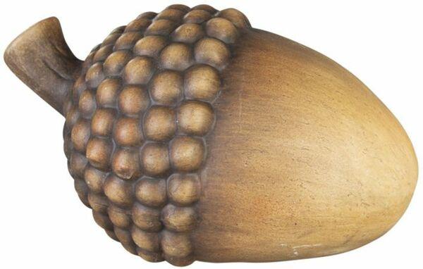 Deko-Eichel - aus Terrakotta - 12,5 x 8,5 x 8 cm