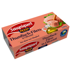 Saupiquet Thunfisch-Filet in Olivenöl 2x52g