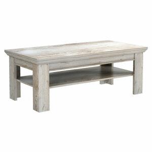 Couchtisch - Holz - weiß-braun - 120 cm breit - 1023067000