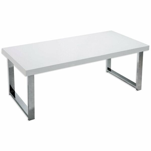 Couchtisch - weiß Hochglanz - 100 cm breit - 1015099301