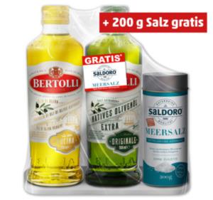 BERTOLLI Olivenöl Duo-Pack mit Gratis-Meersalz
