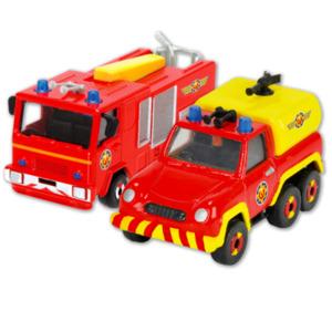 DICKIE Toys Feuerwehrmann Sam, Feuerwehrauto Venus oder Jupiter