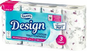 Favora Sommer 8 x 150 Blatt 3-lagig Toilettenpapier FSC