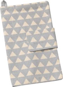 ALANA Windeltasche, in Bio-Baumwolle, grau, weiß