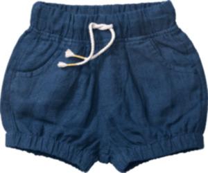 ALANA Baby-Shorts, Gr. 86, in Bio-Leinen, blau, für Mädchen und Jungen