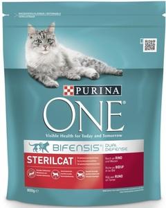 Purina One Cat Bifensis Sterilcat reich an Rind & Weizen Trockenfutter für Katzen 800 g