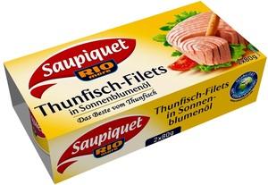 Saupiquet Thunfisch-Filets in Sonnenblumenöl klein 2x 80 g