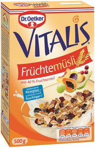 Dr.Oetker Vitalis Früchtemüsli 500 g