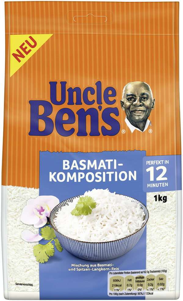 Uncle Ben´s Basmati Komposition lose 12 Minuten 1 kg