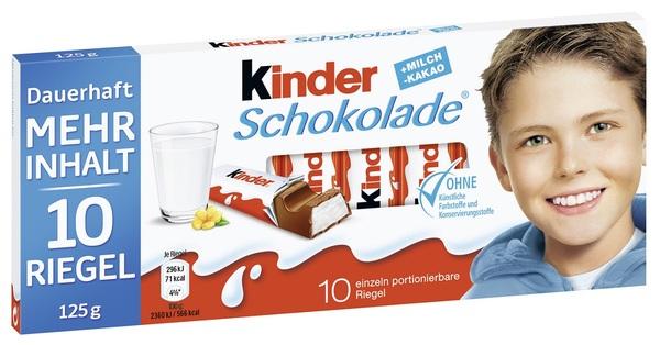 Ferrero Kinder Schokolade 10 Riegel 125 g