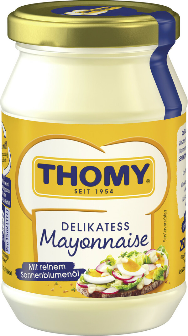 Thomy Delikatess Mayonnaise im Glas 250 ml