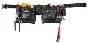 Doppel-Werkzeuggürtel mit 2 Taschen, schwarz Toolpack