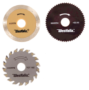 3 Stück Sägeblätter für Mini Tauchkreissäge Art. 567339 Westfalia