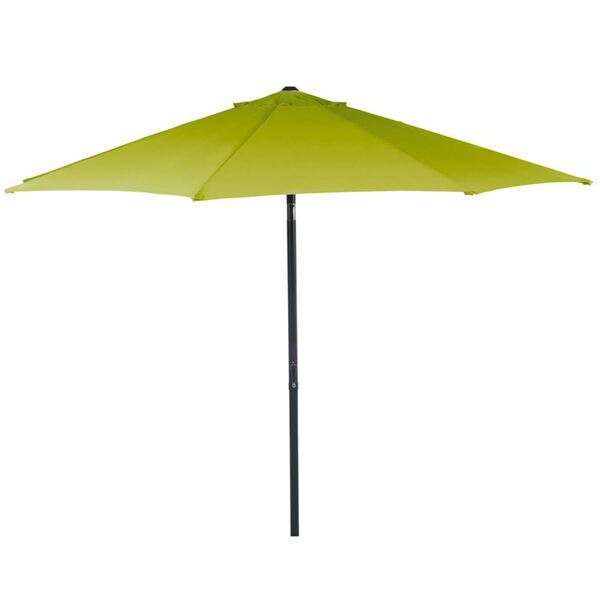 Alu-Sonnenschirm 3m Gelbgrün, pulverbeschichtetes Aluminiumgestell, Schirmbespannung aus 100% Polyester, Gewicht: ca. 5,1kg