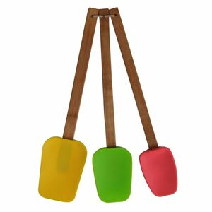 Bambus-Teigschaber 3-teilig Bunt