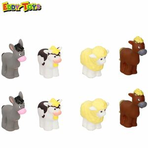 Eddy Toys Bauernhof-Figuren 8-teilig